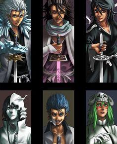 Toshiro, Byakuya, Rukia Ulquiorra, Grimmjow, Nelliel