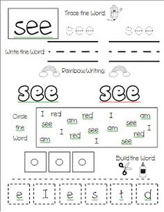 Lots of sight word ideas and a freebie too!