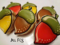 Colorful Acorns by Jill FCS