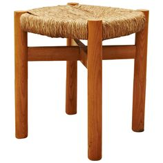 Charlotte Perriand Stool for Meribel, circa 1950 | From a unique collection of antique and modern stools at https://www.1stdibs.com/furniture/seating/stools/