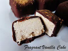 Fragrant Vanilla Cake: Raw Eggnog Truffles