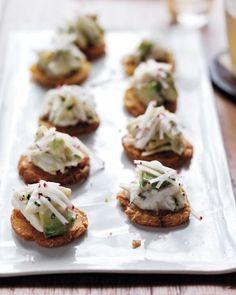 Crab Salad with Avocado and Tostones Recipe