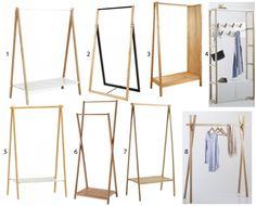 portant minimaliste bois style scandinave Boutique Interior, Diy Interior, Interior Design, Cute Furniture, Furniture Design, Wooden Clothes Rack, Clothing Displays, Rack Design, Aesthetic Room Decor
