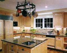 Light maple with tile backsplash via Google Image Result for http://housedean.com/file/images/kitchenc_002.jpg