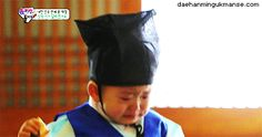 Minguk sobbing after being lectured by the teacher   The Return of Superman
