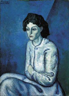 oldage-newera: Pablo Picasso, Femme aux Bras Croisés (Woman with Folded Arms), 1901-02.