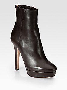 Jimmy Choo - Magic Leather Platform Ankle Boots
