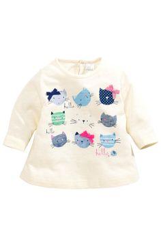 Buy Cream Cat Heads T-Shirt (0-18mths) from the Next UK online shop