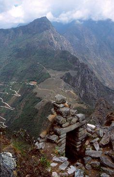 Machu Picchu from the top of Wayna Picchu.