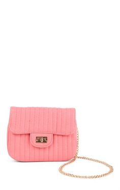 Deb Shops Quilted Crossbody Bag with Chain Strap $15.00