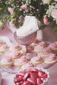 Pretty cookies at a pink & girly Birthday Party! See more party planning ideas at CatchMyParty.com!