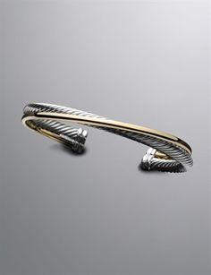 David Yurman Crossover Cable Bracelet BIRTHDAY TOP OF MY WISHLIST!