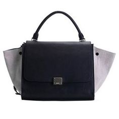 d47de79e5f Celine   Trapeze   2012 Latest Celine Trapeze Bags Original Leather with  Fabric 3342 Black Offwhite Replica
