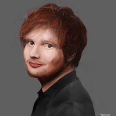 Portrait painting of Ed Sheeran