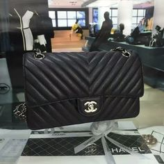 Classic Chanel Chevron Flap Bag Original Caviar Leather A1112 Whatsapp:+8615817091613 for more pics and other payment options.
