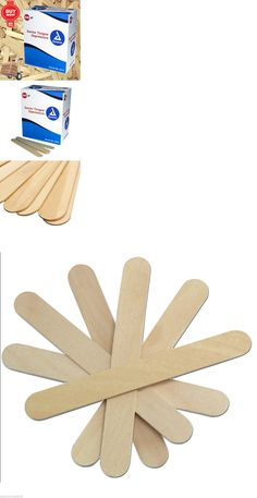 Waxing Supplies: Wood 6 Jumbo Popsicle Sticks / Craft Sticks Tongue Depressors Wooden BUY IT NOW ONLY: $31.67
