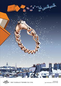Hermès - campagne de publicité / ad campaign - Noël 2014 - Publicis & Nous - by Dimitri Rybaltchenko