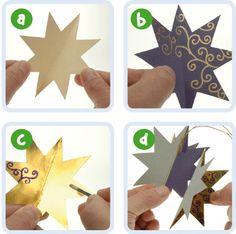 3D Star Decoration   Craft Ideas at Patticrafts