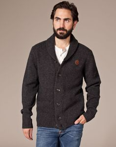 Finally, something that looks great and is realistic to wear.  Fred Perry Donegal Tweed cardigan.