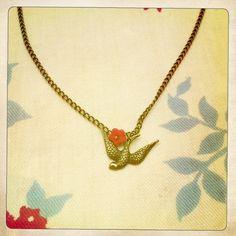 Perfect Antique Brass Bird Necklace. Put a bird on it. by Bakagirl Jewelry