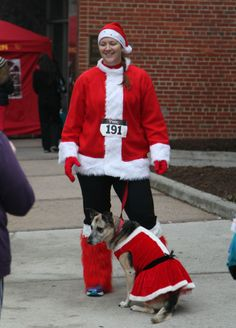 It isn't just us humans who get into the festive spirit of the Jingle Bell Run.