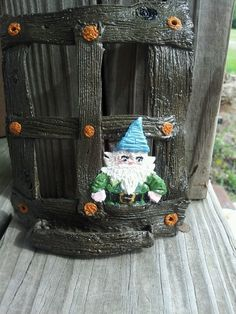 Gnome window for tree made from polymer clay