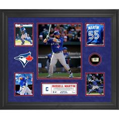 Russell Martin Toronto Blue Jays Fanatics Authentic Framed 5-Photo Collage with a Piece of Game-Used Baseball - $149.99