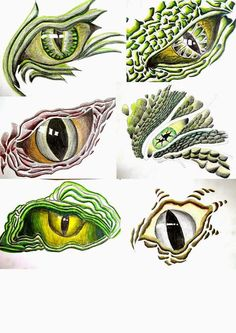 User-uploaded Content Dragon Eye Drawing, Easy Dragon Drawings, Dragon Art, Reptile Eye, Dragon Silhouette, 6th Grade Art, Caran D'ache, Middle School Art, Animal Sketches