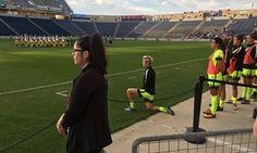 'It was a little nod to Kaepernick': Megan Rapinoe kneels for Star-Spangled Banner
