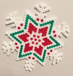 Hama grano grano de fusible arte de copo de nieve de la