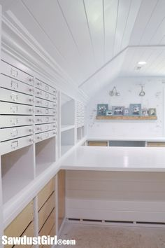 Building Map Drawers in the ultimate craft room!