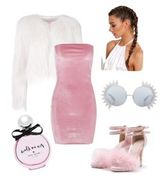 Pink and fur by labloggerglossy on Polyvore featuring moda, Boohoo, Giamba, Linda Farrow and Kate Spade