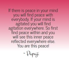 The wisdom of Papaji - You are this peace