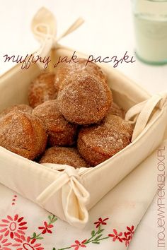 Muffiny jak p? Polish Desserts, Doughnut Muffins, Cupcake Cookies, Cupcakes, Baking With Kids, Cravings, Sweet Tooth, Brunch, Food And Drink