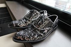 dolce and gabbana glitter shoes