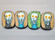 The Scream! 25 Stunningly Beautiful Pieces Of Sushi Art - Oola.com