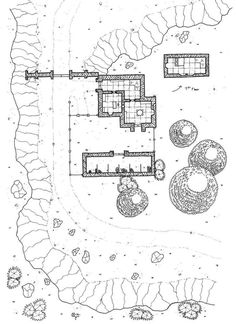 #Mapvember Day17 : #checkpoint  The Slakus toll The Duke of Brien governs his land with an iron hand. He controls and taxes all travelers who use the roads that cross his territory. The Duke chose the narrow passage of Slakus to build a toll. The watchman and his family live in a small house by the roadside. Patrollers regularly take advantage of the barn to stop for a few days.   As usual you can download Free High quality map for your personal use on the blog…