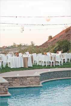 """backyard wedding ideas. Finding a venue that's kind of like a """"back yard"""" like Miguel wants, but glam and upscale like you want."""