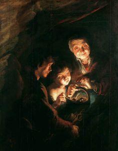 LA VIEILLE FEMME AVEC LE PLAT HOUILLER - 1617 #rubens  #master #baroque