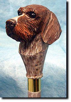 German Wire Hair Pointer Dog Walking Stick