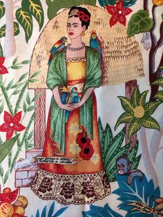 Frida Kahlo handmade lampshade various sizes and by BrightenUpUK