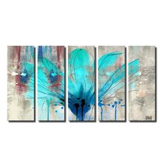 Found it at Wayfair - 'Painted Petals LII' Framed Graphic Art Print on Canvas
