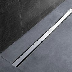 Available in length size of or the Geberit Shower Channel comes in two finish options. In-stock at Victorian Plumbing. Bathroom Drain, Shower Drain, Bathroom Spa, Bathroom Toilets, Bathroom Cleaning, Shower Tub, Bedroom False Ceiling Design, Bathroom Interior Design, Compact Shower Room