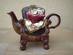 Royal Albert Old Country Roses Novelty Teapot Designed By Cardew
