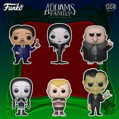 Coming Soon: Pop! Movies—The Addams Family 💀 . Bring a spooktacular touch to your collection with the first family of Halloween including Pop! Gomez, Morticia, Wednesday, Pugsley, Uncle Fester and Lurch with Thing. Funko Vinyl, Vinyl Toys, Pugs, Gomez And Morticia, Doctor Sleep, Funko Pop Figures, Animation Film, Pop Vinyl, Mickey Mouse