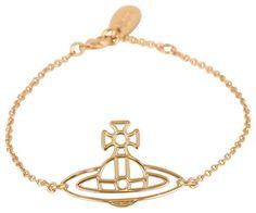Vivienne Westwood Thin Lines Flat Orb Bracelet - Gold | Vivienne Westwood Gold Bracelet | KJ Beckett