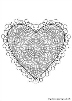 Sign of Love Valentine's Day Coloring Pages / Free Printable Coloring Pages for Kids - Coloring Books Pattern Coloring Pages, Mandala Coloring Pages, Free Printable Coloring Pages, Coloring Pages For Kids, Coloring Books, Kids Coloring, Valentines Day Coloring Page, Valentine's Day Printables, Hearts