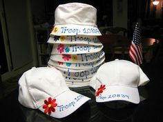 4 Crazy Kings: Year End Autograph Hat Scout Mom, Girl Scout Swap, Girl Scout Leader, Daisy Girl Scouts, Girl Scout Troop, Brownie Girl Scouts, Girl Scout Cookies, Girl Scout Shirts, Girl Scout Bridging