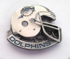 *** MIAMI DOLPHINS HELMET *** Novelty NFL Hat Pin P52030 EE