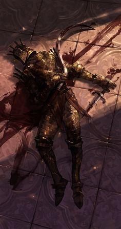 m Fighter hilvl Plate Armor Helm Sword dead ruins or urban City mystery story Knight Lautrec of Carim Dark Souls Dark Fantasy Art, Fantasy Artwork, Dark Art, Fantasy Battle, Arte Dark Souls, Soul Saga, Bloodborne Art, Ange Demon, Medieval Fantasy
